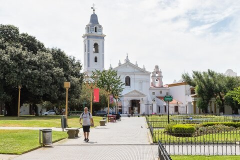 Basilica of Our Lady of the Pillar in Recoleta, Buenos Aires.