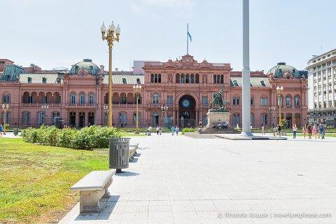 Casa Rosada in Plaza de Mayo, Buenos Aires.